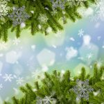New Year, fir-tree, snowflakes, holiday wallpaper