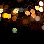Glass, rain, night light, wallpaper