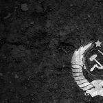 The hammer and sickle on the earth wallpaper