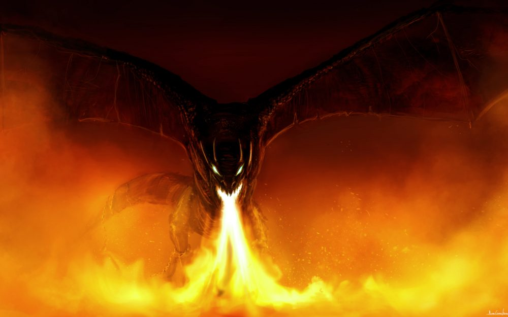 Fantasy, fire breathing, wings, mouth