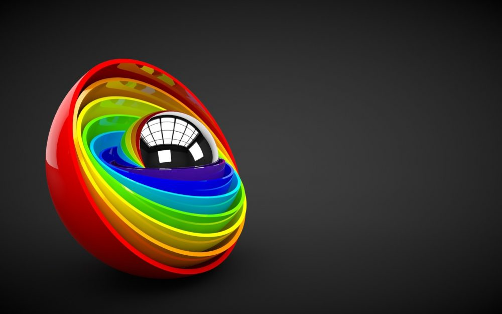 colorful, ball, form
