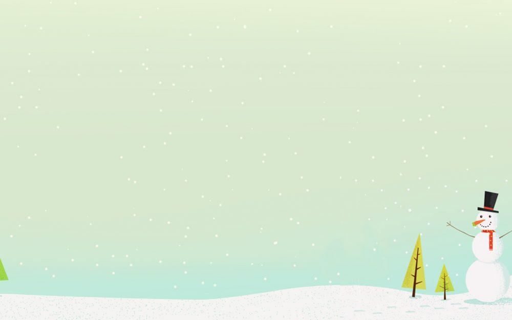 Snow Doll Desktop Wallpaper