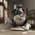 Cartoon, Mary and Max, plasticine, stamps, girl