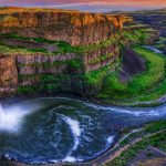 Waterfalls and rivers Nature Landscapes HD wallpaper download