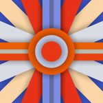 colors, 5.0, abstraction, circle, stripes, blue, orange, lollipop, design, line