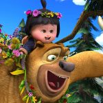 Indiana Xiong Bing haunt Bear Bear two toot cute wallpaper