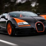 Bugatti, black, 16.4, Veyron, scenic highways, sports car, Bugatti wallpaper