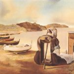 The artist, a bedside table, Salvador Dali, water, boat, painting, Salvador Dali