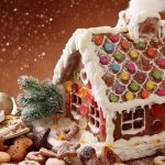 Christmas chocolate dessert hut desktop wallpaper