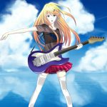 Blue Sky Wallpaper HD anime guitar girl