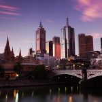 Melbourne, sunset, australia