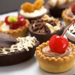 Sweets, confectionery, cakes, cherry