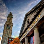 quincy market, boston, building, sky
