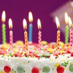 Happy birthday, cake, sweets, candles, wallpaper