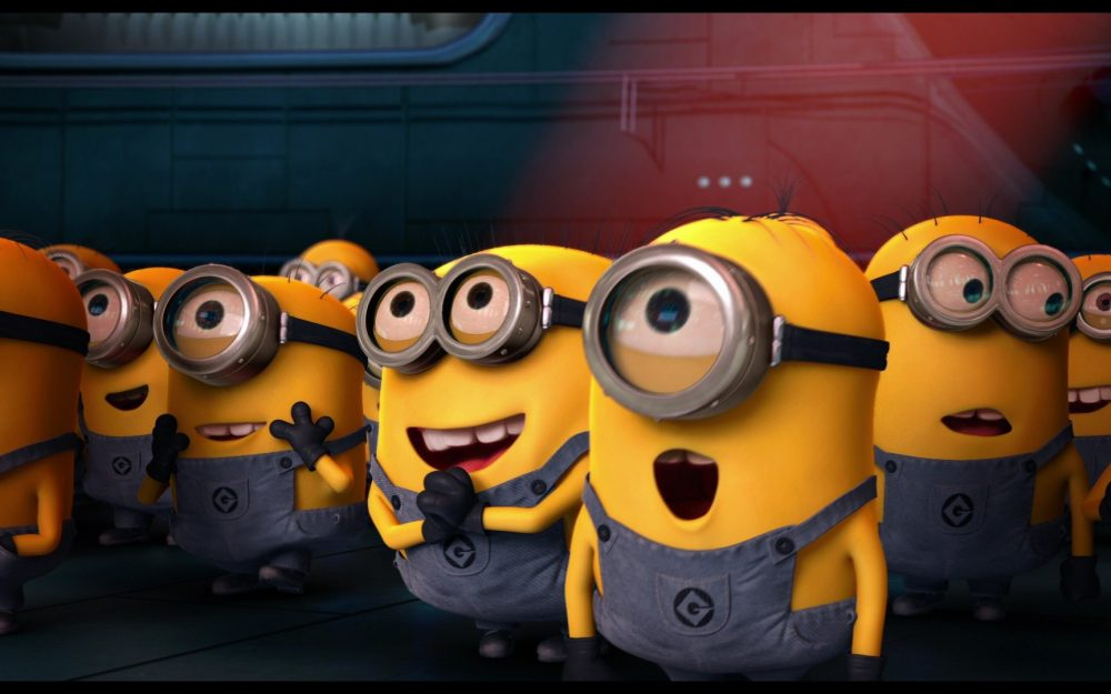 Small yellow people who are selling Meng HD computer wallpaper