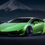 Lamborghini Huracan, lp640-4, green, snow, mountains, sports, wallpaper