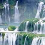 Natural beauty of the landscape Waterfall HD Wallpaper