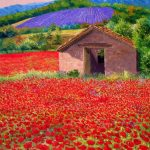 Summer, poppies, field, butter, Jean-Marc Janiaczyk, house painting