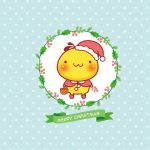 Fried Ding grumble Christmas style cute wallpaper