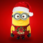 Christmas, a small yellow people, Santa Claus, adorable, cute Christmas wallpaper