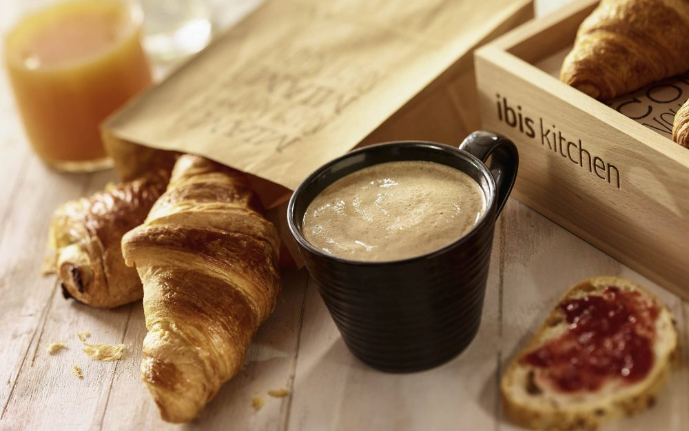 croissants, breakfast, coffee, juice