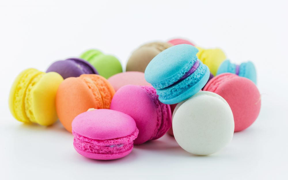Assorted, macaroon, pastry
