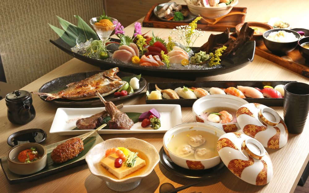Seafood, meats, Japanese, Food, soup