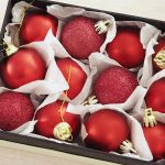 christmas, matte, box, spheres, red, new year wallpaper