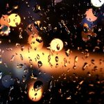 Neon rain outside the window beautiful hd wallpaper