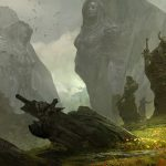 Guild wars 2, mountains, soldiers, grass, statues