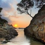Sunset Coast Landscape wallpaper