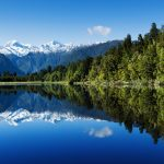 Alpine lake reflection landscape wallpaper