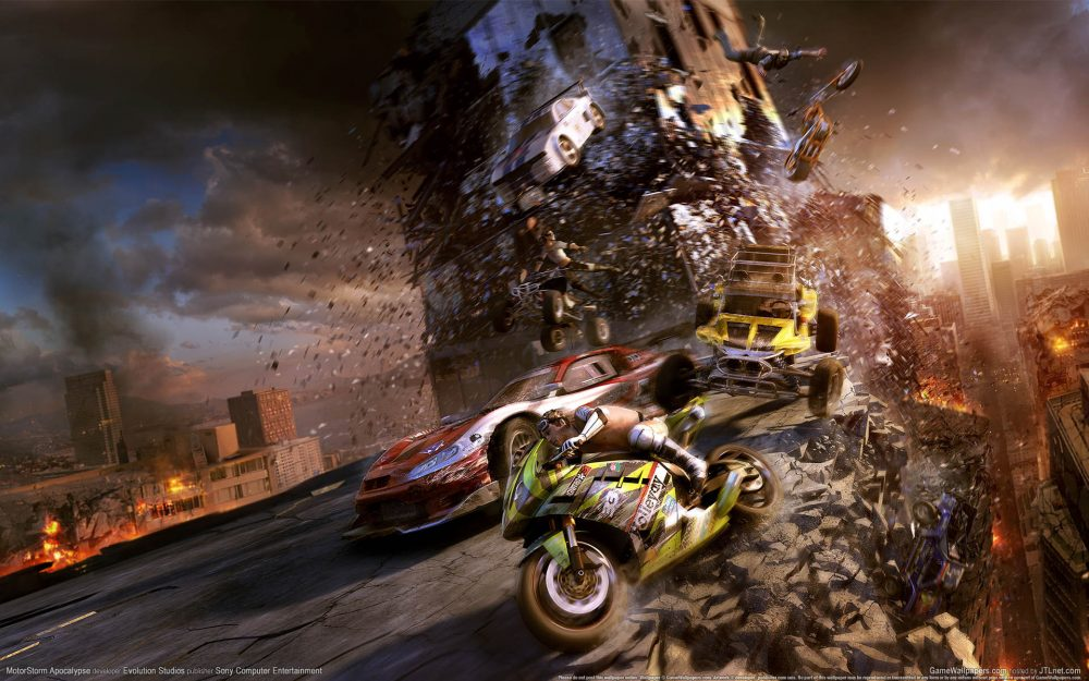 Motorstorm, apocalypse, the city, the riders, the destruction