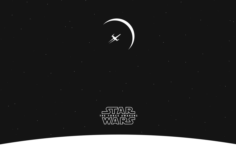 Star Wars black and white computer wallpaper
