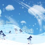 new year, winter, christmas, snow, houses
