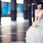 Attractive white wedding beautiful close-up wallpaper