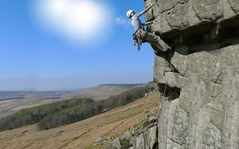 Rock climbing extreme sports desktop wallpaper