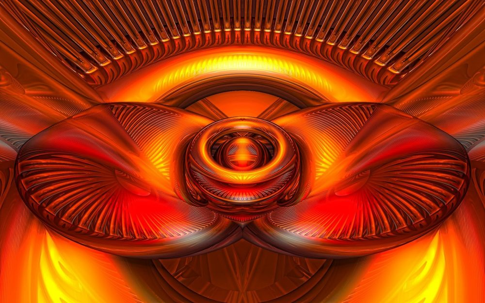 A bright amber light abstraction