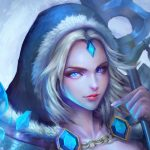 Dota2 crystal maiden wallpaper