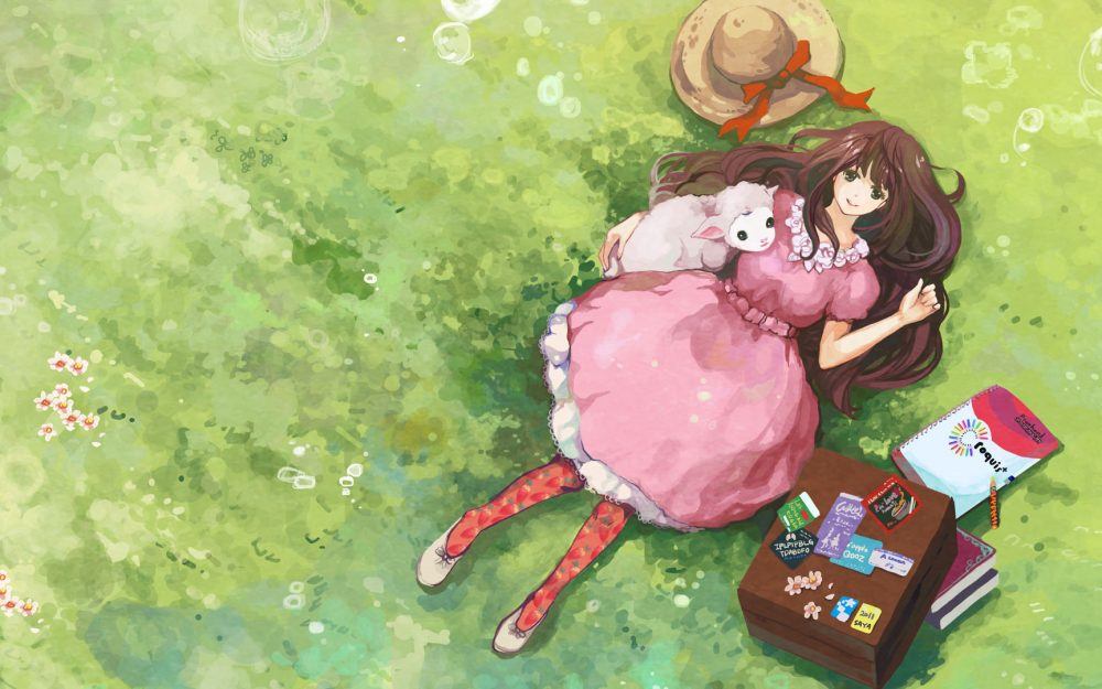 Grass cute girls wallpaper desktop wallpaper for girls