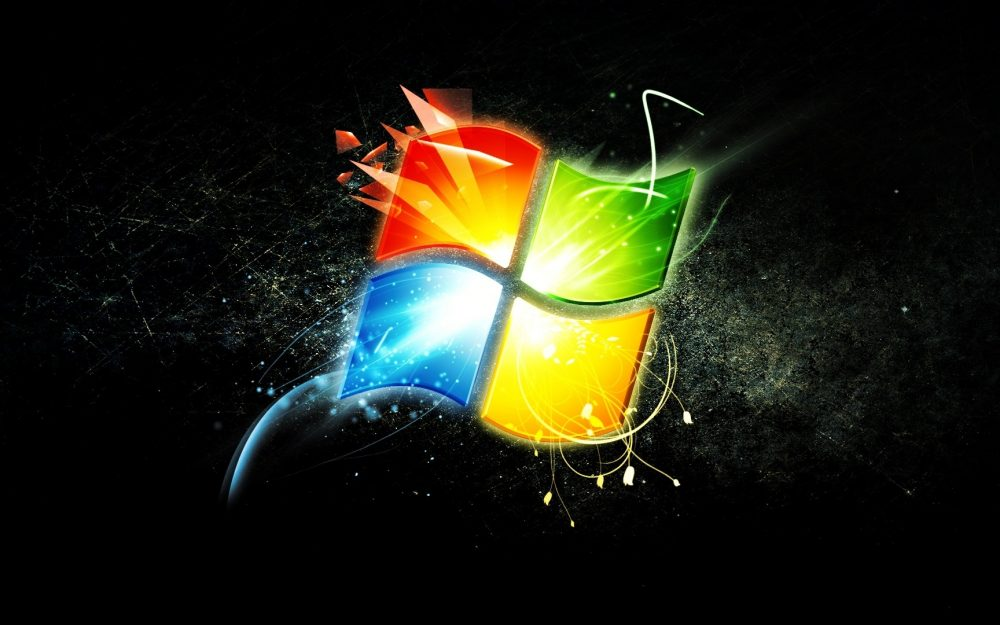 Windows, logo, wallpaper