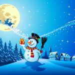 Reindeer, full moons, scarf, new year, snowman, new year, santa claus