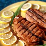 Meat with lemon