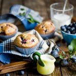 Delicious blueberry tarts food wallpaper