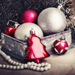 Pink, christmas, tree, red, spruce, holidays, beads