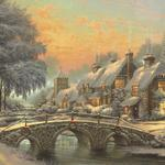 Christmas classic painting wallpaper