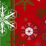 Snowflakes, christmas tree, flag, christmas