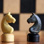 Horse, chess, black, figures desktop background