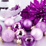 Wallpaper, balls, new year, purple, christmas, background, widescreen