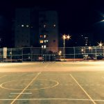 Aesthetic background picture basketball court